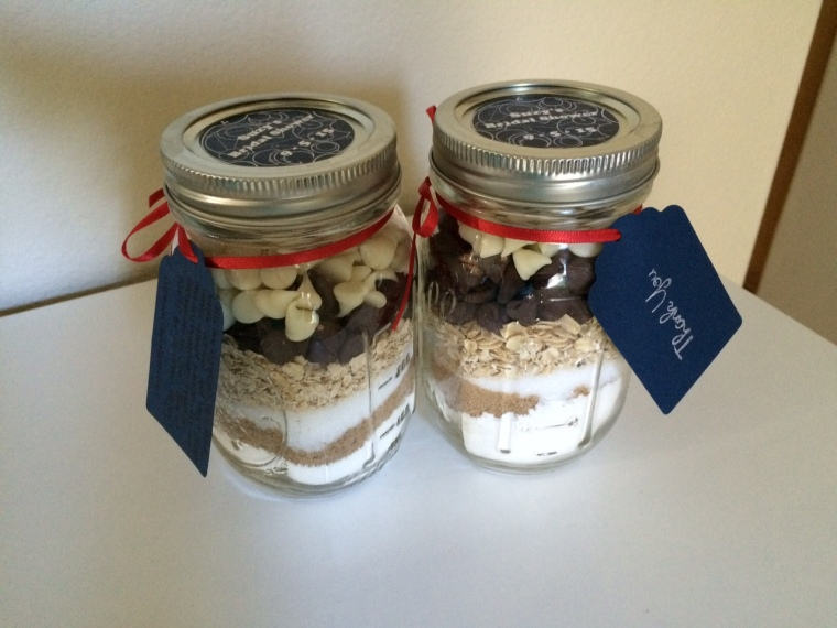 cookie mix in mason jar